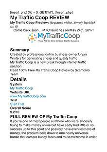 My Traffic Coop Bryan Winters PDF Review 1