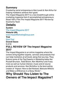 The Impact Magazine Ken Arthur PDF Review 1