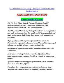 CIS 446 STUDY Career Path Begins/cis446study.com