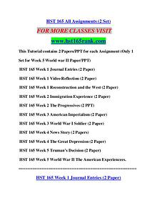 HST 165 RANK Learn by Doing/hst165rank.com