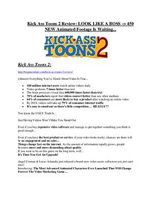 Kick Ass Toons 2 review & (GIANT) $24,700 bonus