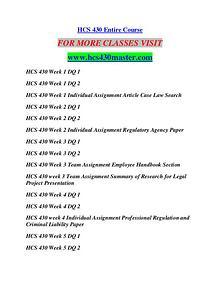 HCS 430 MASTER Education Terms/hcs430master.com