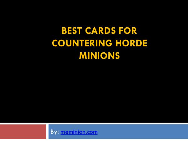Meminions How to play and count every card clash royale