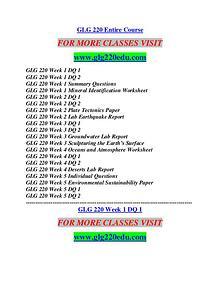 GLG 220 EDU Career Path Begins/glg220edu.com