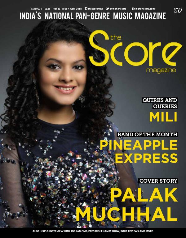 The Score Magazine April 2018 issue!