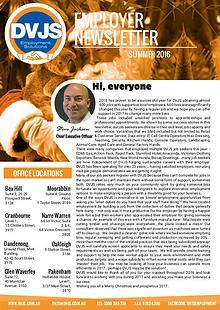 DVJS Employer Newsletter