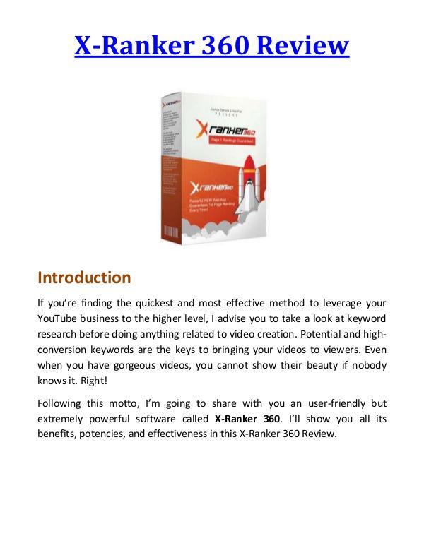 X-Ranker 360 Review & Bonus - Why Should You Buy It? ?