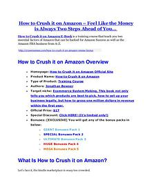 How to Crush it on Amazon Review - SECRET of How to Crush it on Amazon