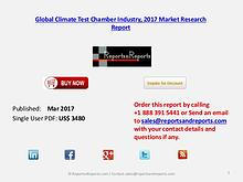 Global Forecasts on Climate Test Chamber Market Analysis to 2022