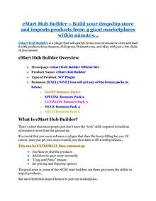 eMart Hub Builder review and sneak peek demo