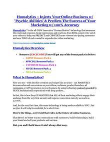 Humalytics review and (SECRET) $13600 bonus