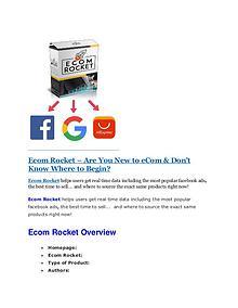 Ecom Rocket Review & GIANT Bonus