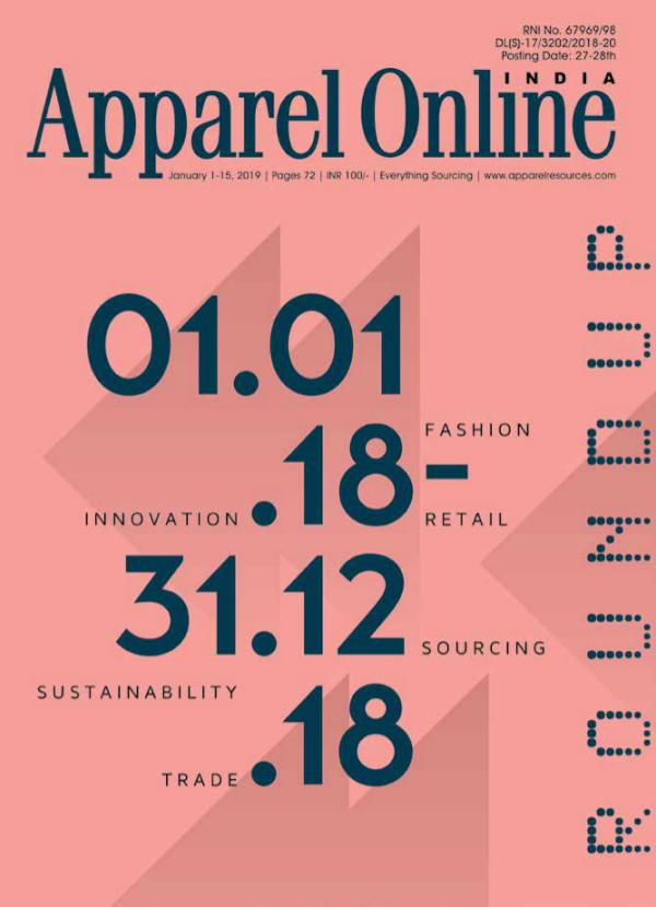 Apparel Online India Magazine January 1st Issue 2019
