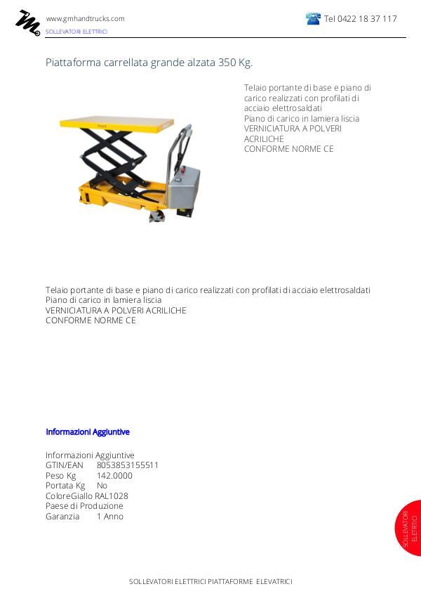 sollevatori elettrici sollevatori elettrici pc350d