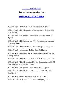 ACC 564 Course Great Wisdom / tutorialrank.com