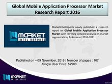 Global Mobile Application Processor Market Industry Analysis – 2016
