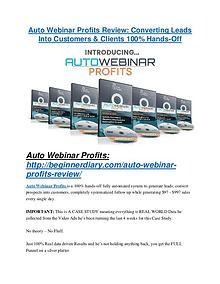 Auto Webinar Profits review demo and premium bonus