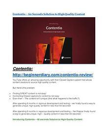Contentio review & huge +100 bonus items