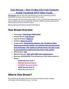 MarketingVote Stream Review - Vote Stream +100 bonus items