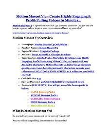 MarketingMotion Mascot V3 reviews and bonuses Motion Mascot V3