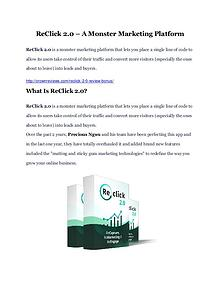 ReClick 2.0 Review-(GIANT) bonus & discount
