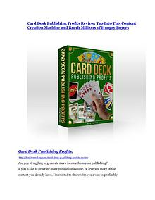 Card Desk Publishing Profits Detail Review and Card Desk Publishing Profits $22,700 Bonus