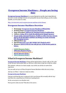 MarketingEvergreen Income Machines review - EXCLUSIVE bonus of Evergreen Income Machines