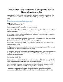FanInviter Review & (Secret) $22,300 bonus NOW