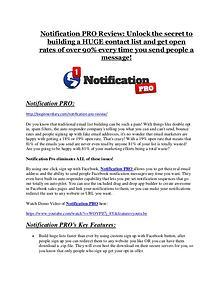 Notification PRO review-(MEGA) $23,500 bonus of Notification PRO