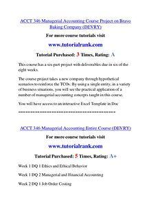 ACCT 346 Course Great Wisdom / tutorialrank.com