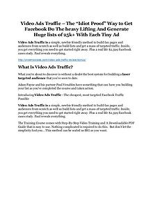 Video Ads Traffic review and Exclusive $26,400 Bonus