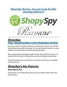 ShopySpy Review-$9700 Bonus & 80% Discount
