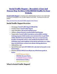 MarketingSocial Traffic Magnet Review-MEGA $22,400 Bonus & 65% DISCOUNT