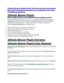 Ultimate Banner Plugin Detail Review and Ultimate Banner Plugin $22,700 Bonus