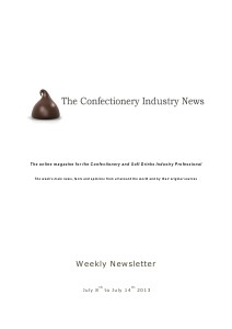 The Confectionery Industry News July 8 to 14, 2013