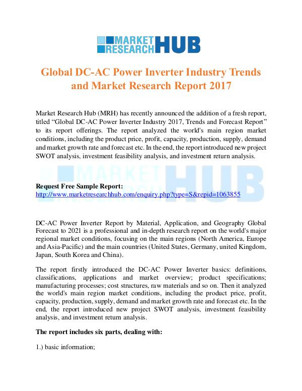 Market Research Report Global DC-AC Power Inverter Industry Market Report