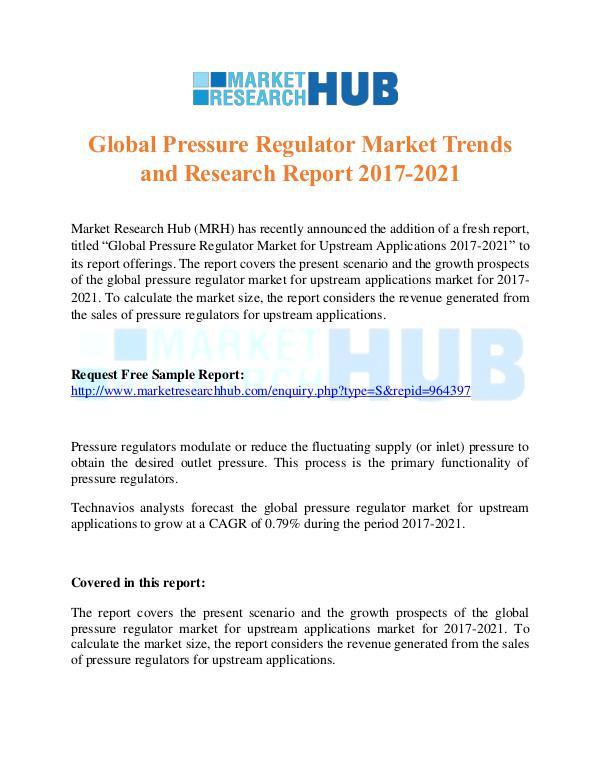 Market Research Report Global Pressure Regulator Market Research Report