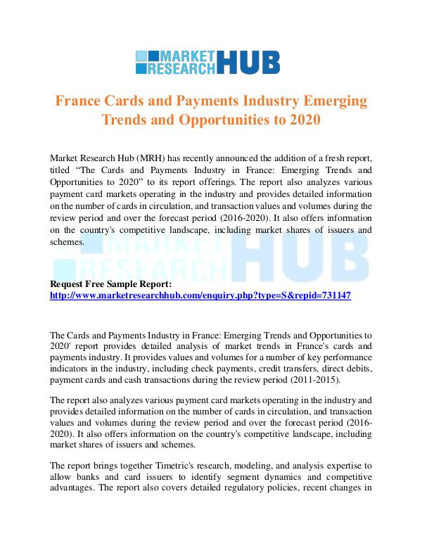 Market Research Report France Cards and Payments Industry Report