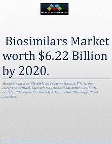 The global biosimilars market is expected to reach $6.22 Billion