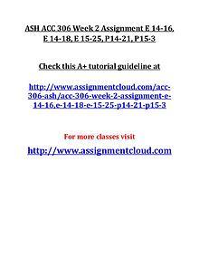 ASH ACC 306 Entire Course