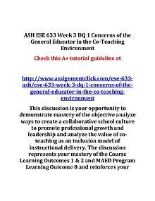 ash ese 633 entire course