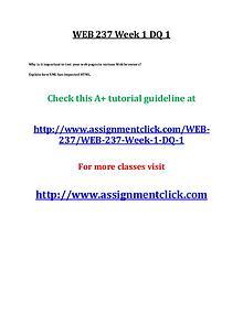 uop web 237 entire course
