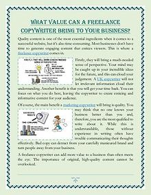 What Value Can A Freelance Copywriter Bring To Your Business?