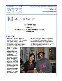 Maumee Valley Country Day Search