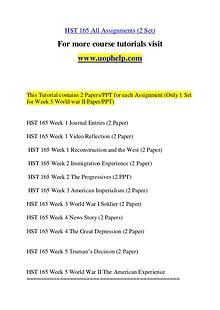 HST 165 Expect Success/uophelp.com