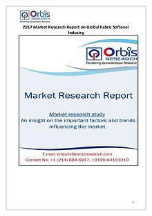 Global Fabric Softener Market 2017 China Research Report