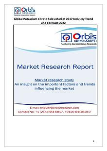 Global Potassium Citrate Sales Industry Overview
