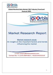 Global Menthol Sales Industry 2017 Market Research Report