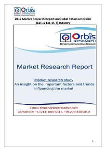 Global Potassium Oxide (Cas 12136-45-7) Industry Overview