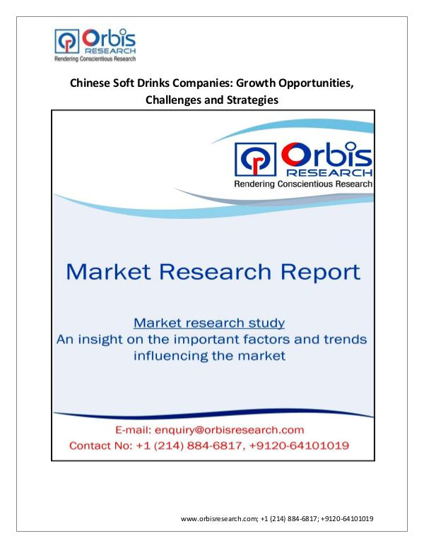 Food and Beverages Market Research Report Market  2016 Size, Share, Trends, Growth, Soft Dri
